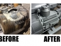 Vacuum Pump Before and After Service and Repair