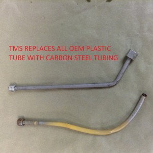 TMS Replaces All OEM Plastic Tubing w Carbon Steel Tubing