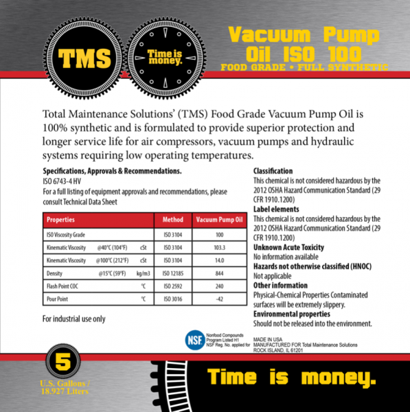 TMS-Vacuum-Pump-Oil-ISO-100-Full-Synthetic-Label
