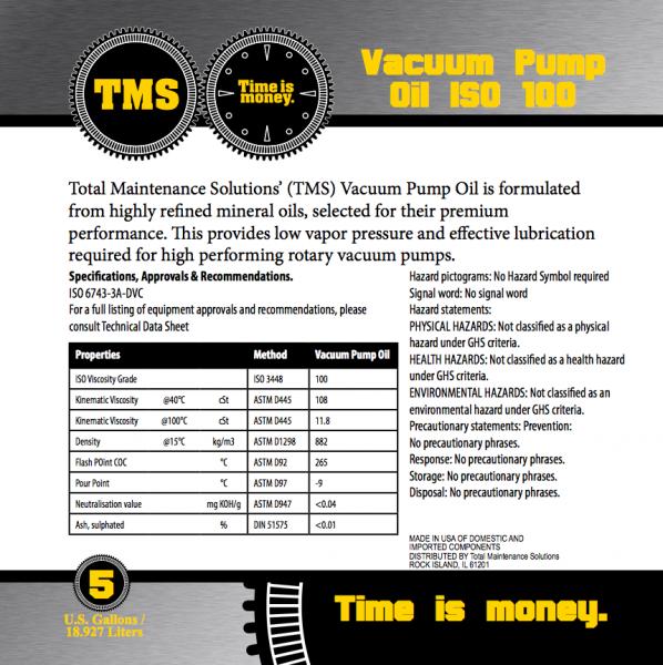 TMS-Vacuum-Pump-Oil-ISO-100-Non-Detergent-Label